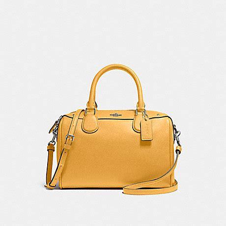 mini satchel in crossgrain leather f57521 silver mustard coach handbags all