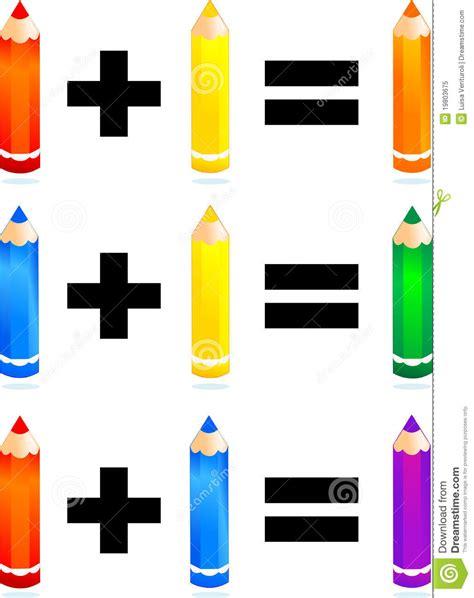 tavola colori primari e secondari colori primari e secondari illustrazione di stock