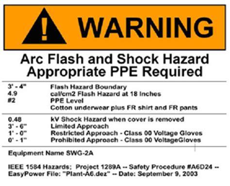 Arc Flash Faqs Arc Flash Label Template