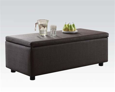 ottoman w storage acme furniture brown ottoman w storage barlow ac51437