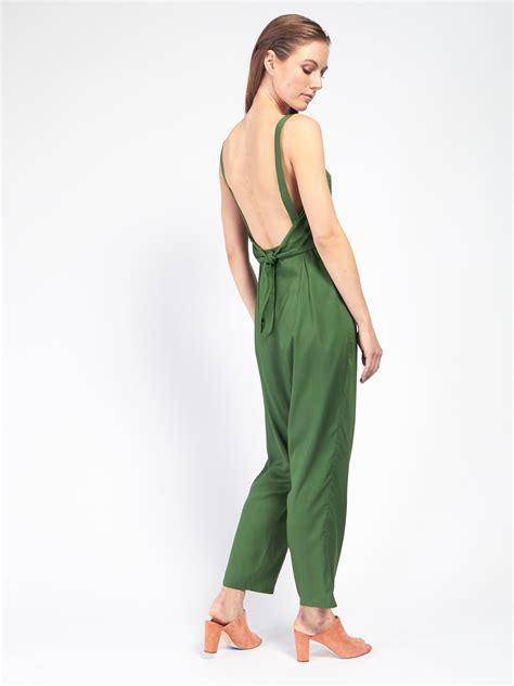 green leaf pattern jumpsuit samantha pleet immortal jumpsuit leaf green garmentory