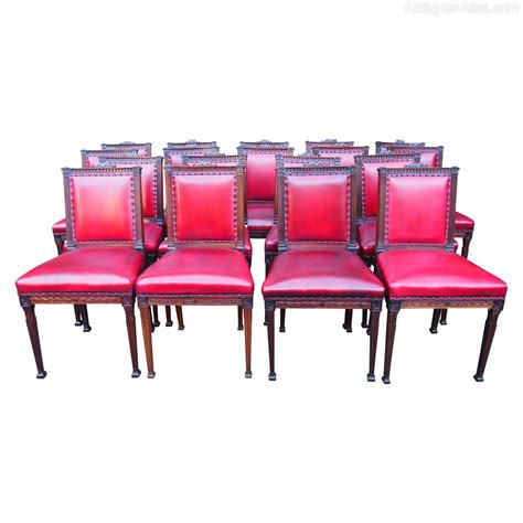 18 dining chairs set of 18 mahogany dining chairs antiques atlas