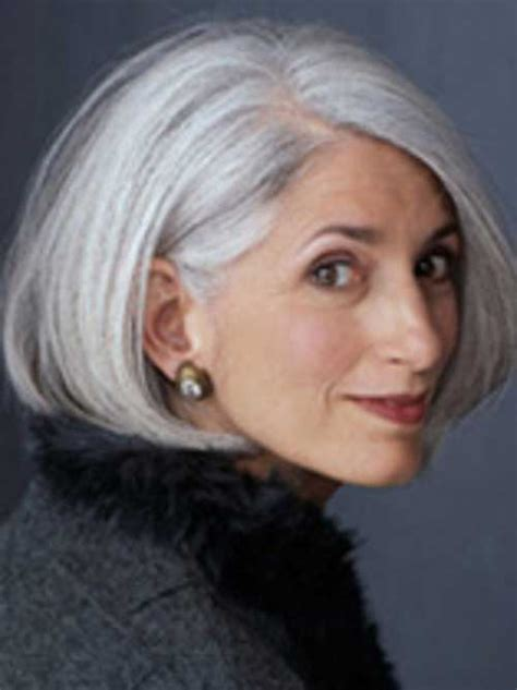 gray hair bob haircuts hairstyles on pinterest gray hair over 50 and older women