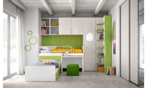 camerette per bambini con letto a le camerette salvaspazio mistral con letti a