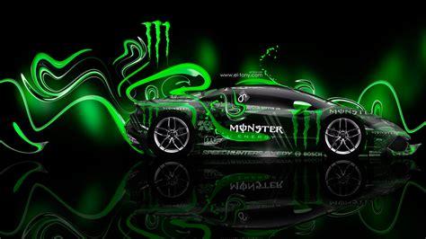 Monster Energy Lamborghini Huracan Side Plastic Car 2014