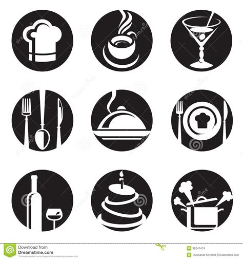 Restaurant Icon Set Stock Vector   Image: 39247474