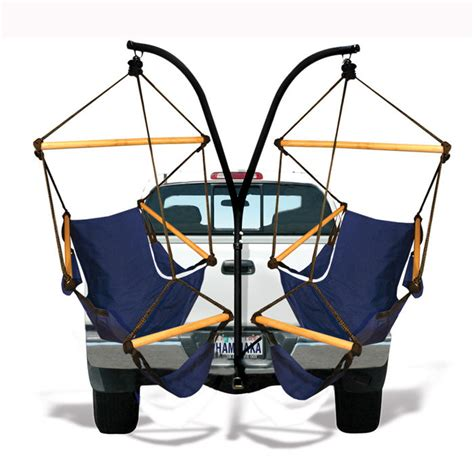 trailer hitch swing chair hammaka trailer hitch stand cradle chairs set ebay