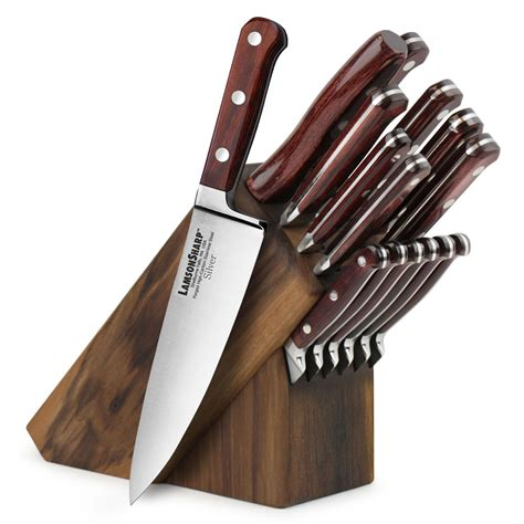 cutlery more lamson silver knife block set 16 cutlery and more