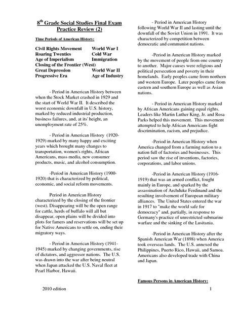 Free Printable Social Studies Worksheets For 8th Grade 18 best images of 8th grade test prep worksheets 8th
