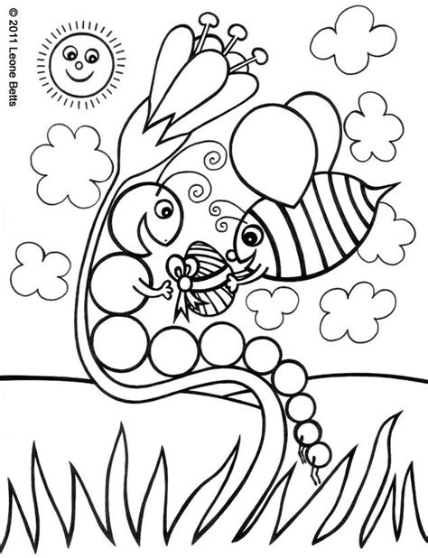 free printable kids colouring happy easter leone