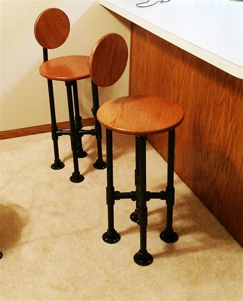 Pipe Bar Stool Diy by How To Build A Barstool With Pipe Diy Step By Step Plans