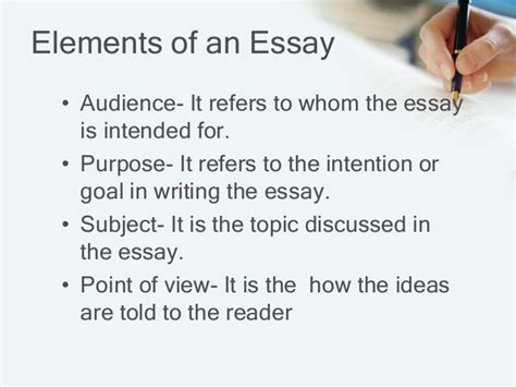 Elements Of Essay Writing elements of essay in literature