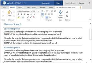 The Speeches Free Sles elevator speech template for delivering a sales