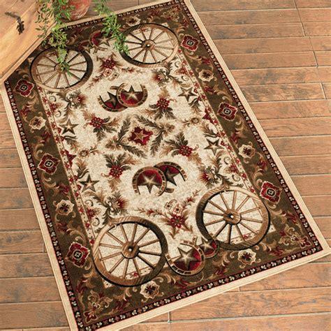 5 x 8 rugs southwest rugs 5 x 8 wagon wheel rug lone western decor