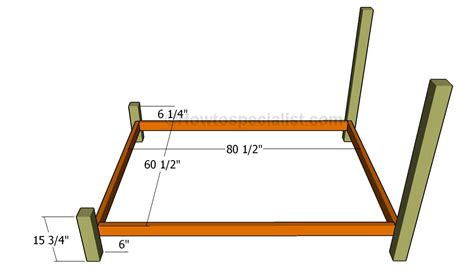 building a queen bed frame queen bed frame plans howtospecialist how to build