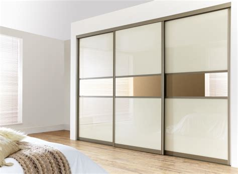 Khaki Polished Steel Frame Walk In Closet With White Metal Frame Cabinet Doors