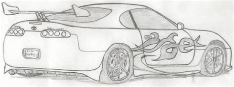 Toyota Supra Drawing Toyota Supra Turbo By Hypothraxer On Deviantart