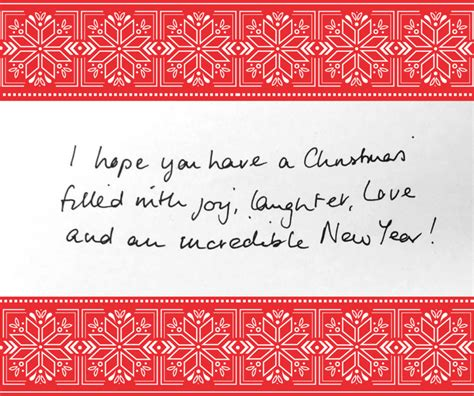 How To Write On Gift Card - what to write in a christmas card thortful