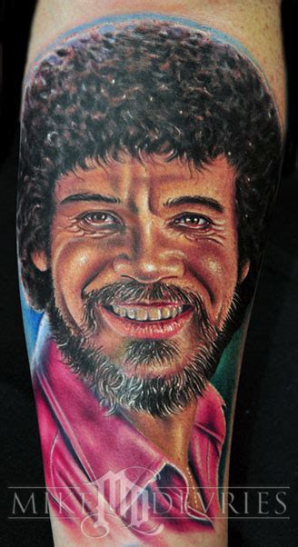 bob ross tattoo mike devries tattoos pin up bob ross
