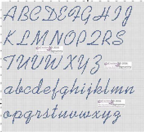 lettere ricamo punto croce alfabeto schemi punto croce alfabeto