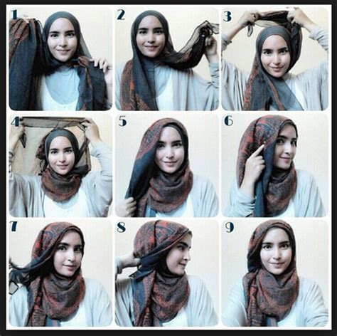 video tutorial hijab simple casual gambar tutorial hijab modern casual new tutorial hijab