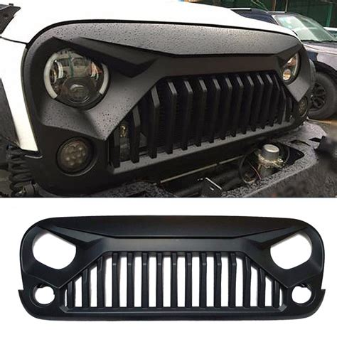 angry jeep grill vader angry grille for jeep wrangler jk mad jeeps shop