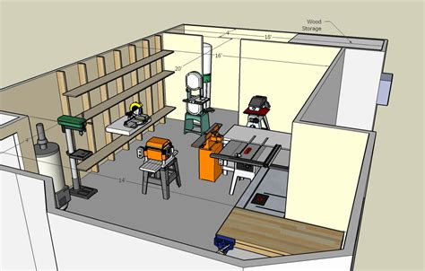 layout of carpentry workshop woodshop floor plans 187 plansdownload