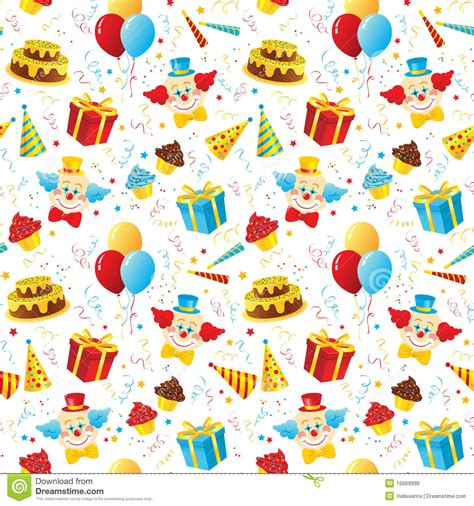 cake background pattern vector birthday party seamless pattern stock vector image 15669990