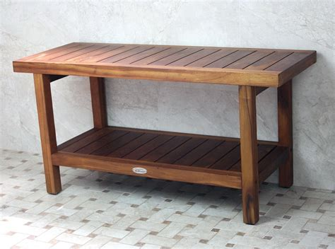 teakwood benches double teak wood shower bench the clayton design care