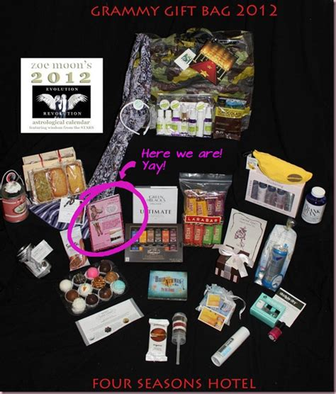 Win The Official Grammy Gift Basket by Sleevey Wonders In 2012 Grammys Gift Baskets
