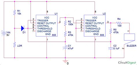 fridge door alarm circuit diagram circuit and schematics