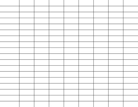 grid chart template grids charts and tables