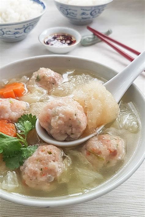 new year fish maw soup recipe fish maw soup recipe with prawn meatballs souper diaries