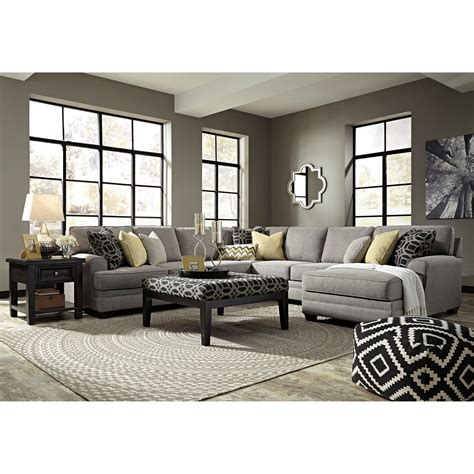 5 piece sectional sofa with chaise benchcraft cresson contemporary 5 piece sectional with