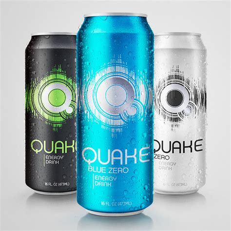 q base energy drink quake energy drink on behance