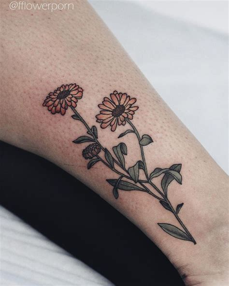 calendula tattoo designs 25 best october birth flowers ideas on