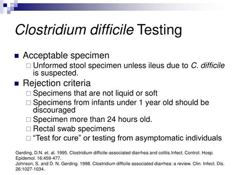 stool specimen collection for c diff ppt specimen collection and culture work up powerpoint