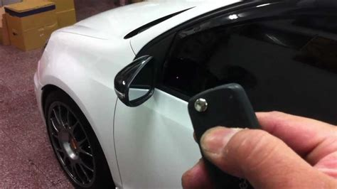 hayes auto repair manual 2011 volkswagen gti windshield wipe control 2011 vw golf gti auto fold in exterior mirror when you lock your vw by remote control youtube
