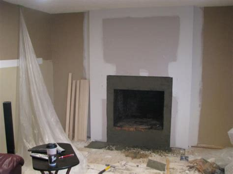 Drywall Brick Fireplace by Before And After Fireplace Photos Add Space And Value To Your Home Remodeled Brick Fireplace