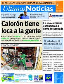 ultimas noticias newspaper 218 ltimas noticias venezuela newspapers in