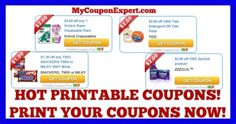 printable tide coupons march 2016 check these coupons out print now tide schick zzzquil