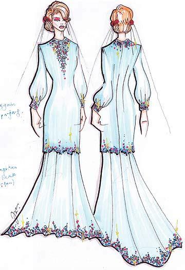 Baju Kurung Moden For Nikah nor sahirah inspirasi baju nikah