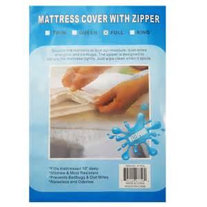 size bed mattress cover zipper plastic waterproof bed
