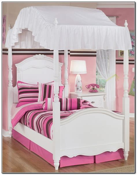 girls twin canopy bed twin canopy bed cover top beds home design ideas