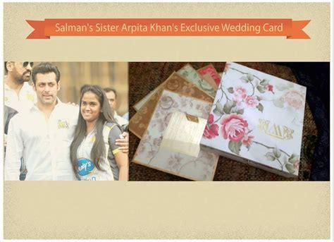 arpita khan wedding card pics salman khan arpita khan wedding invitations