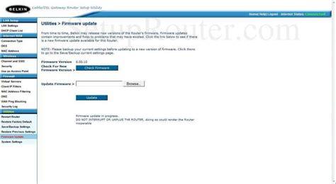 how to update belkin wireless router fsd7230 4 belkin firmware update