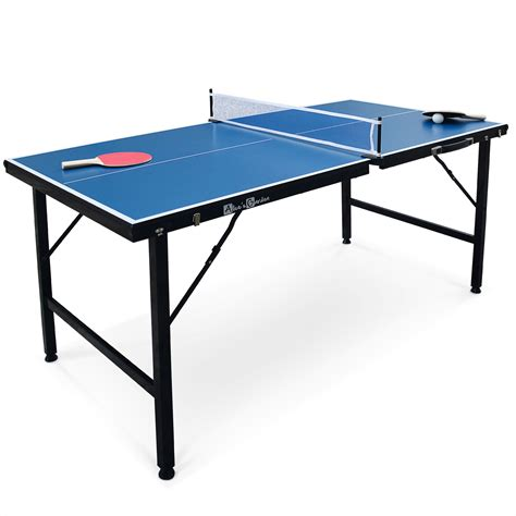 si鑒e de table mini table de ping pong pliable 150x75cm indoor bleue