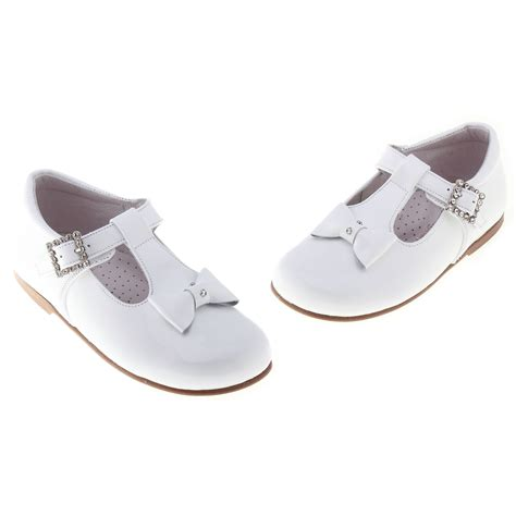 White Baby Shoes baby and toddler white patent shoes with t bar design cachet