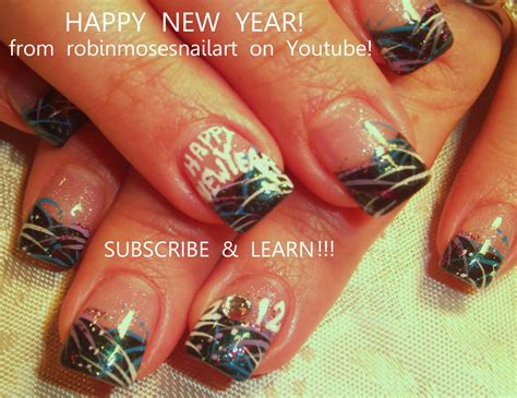 new year nail design robin moses nail new york nails new year 2012 new