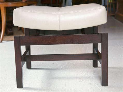 saddle bench stool jens risom bench with floating saddle seat at 1stdibs